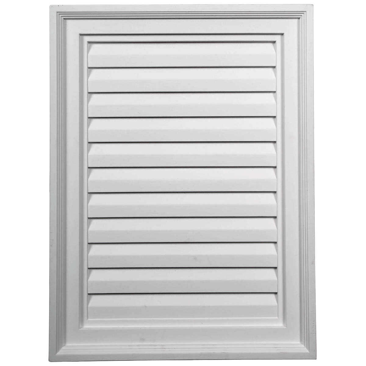 18'W x 24'H x 2 1/4'P, Vertical Gable Vent Louver, Decorative
