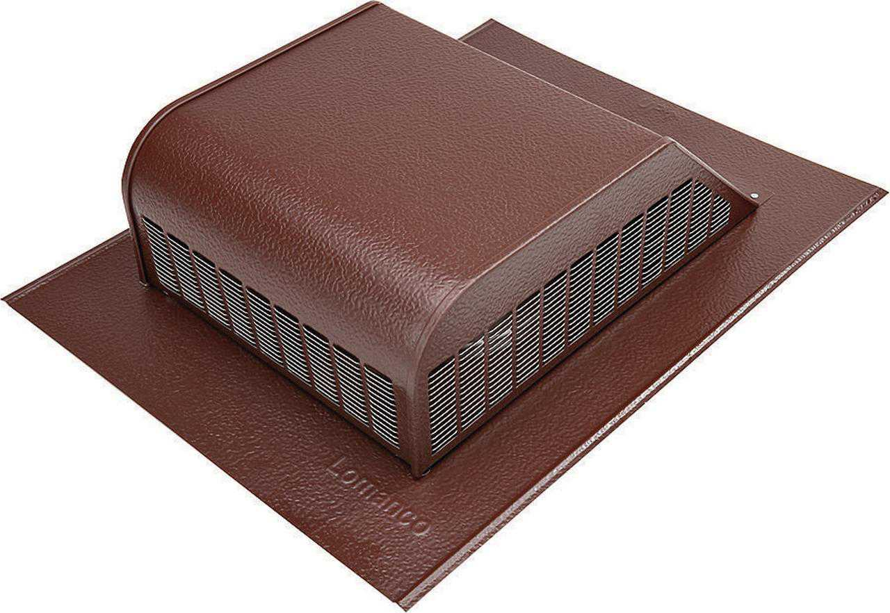 Lomanco 750BR Slant Back Static Roof Ventilator, 8 in, Aluminum, Brown