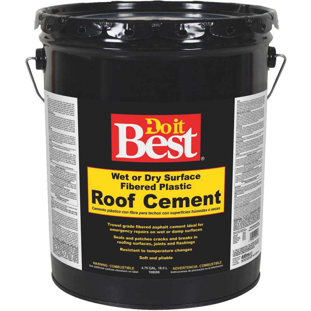 Premier Wet or Dry Plastic Roof Cement & Patching Sealant