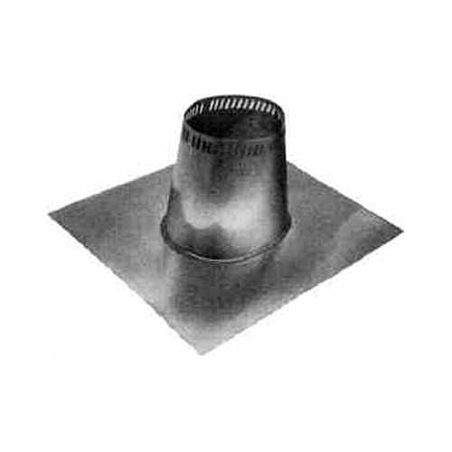 Metalbest 8T-TF Sure-Temp 8' Class A Chimney Pipe Low Roof Flashing for 0/12 to 2/12 Roof Pitch