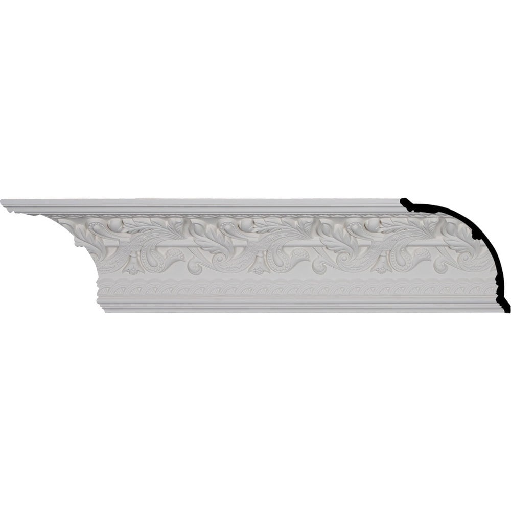 Ekena Millwork Polyurethane Crown Moldings/Kinsley Crown Molding 9 5/8' Repeat / 7'H x 7'P x 9 7/8'F x 96 1/8'