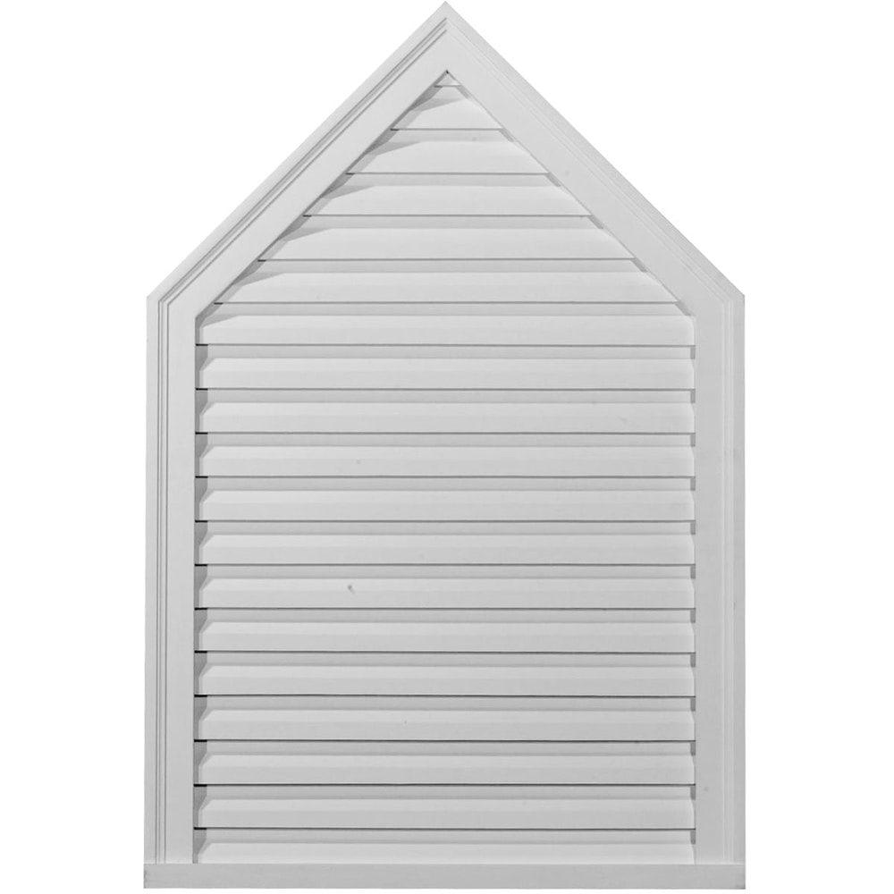 Ekena Millwork Gable Vents/Peaked / Gable Vent Louver - Functional / 24'W x 30'H x 1 3/4' / GVPE24X30F