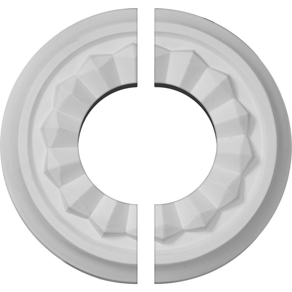 Ekena Millwork Olivia Ceiling Medallion/Unfinished Polyurethane / Two Piece (Fits Canopies up to 3 1/2') / 7 7/8'OD x 3 1/2'ID x 1 1/8'P / CM07OL2-03500