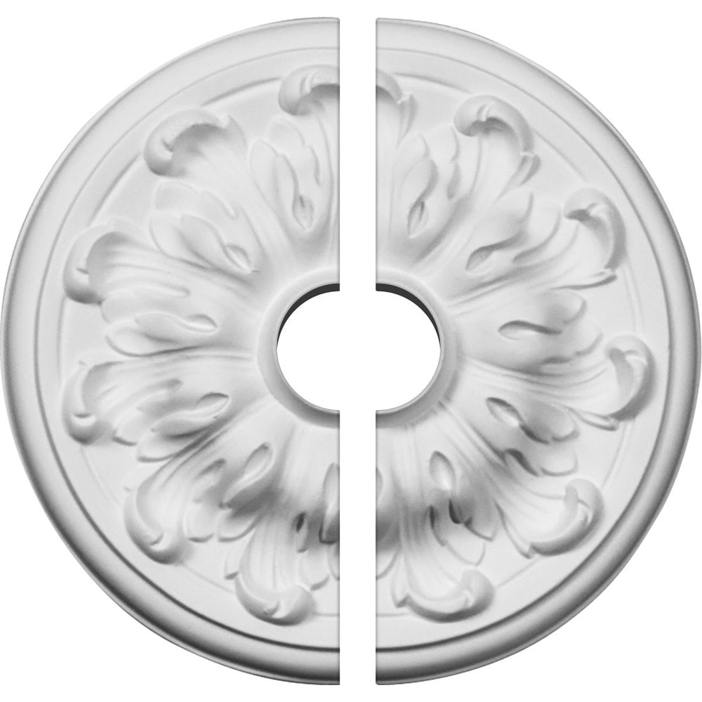 Ekena Millwork Millin Ceiling Medallion/Unfinished Polyurethane / Two Piece (Fits Canopies up to 2') / 7 7/8'OD x 1 1/2'ID x 1/4'P / CM08MU2-01500