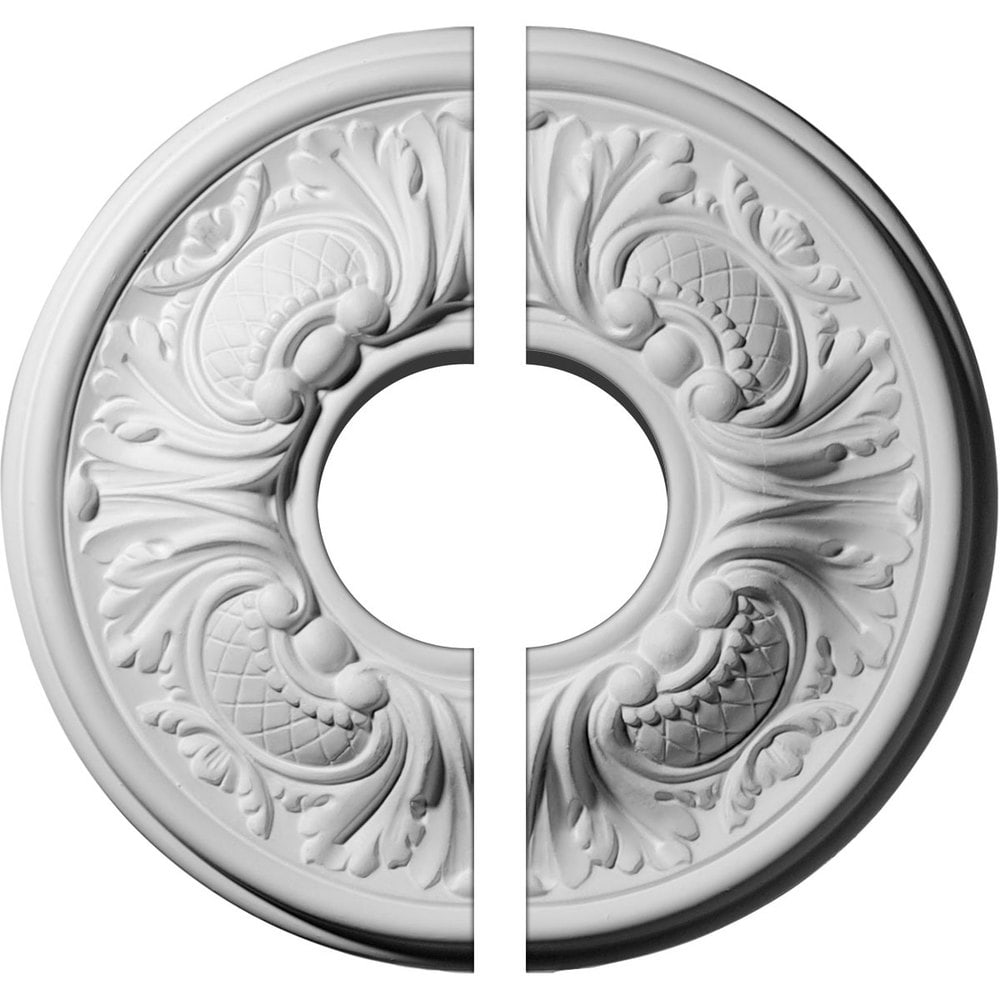 Ekena Millwork Wakefield Ceiling Medallion/Unfinished Polyurethane / Two Piece (Fits Canopies up to 3 5/8') / 11 3/4'OD x 3 1/2'ID x 1 1/4'P / CM11WA2-03500